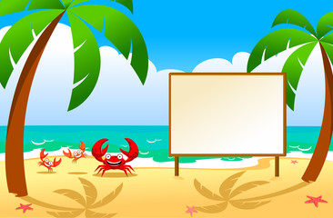 family of crabs on a beach, vector red crab, shellfish