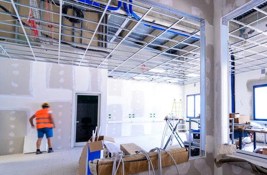 Interno di edificio in costruzione
