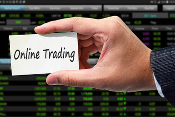 Online Trading. Trading concept.