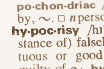 Dictionary definition of word hypocrisy