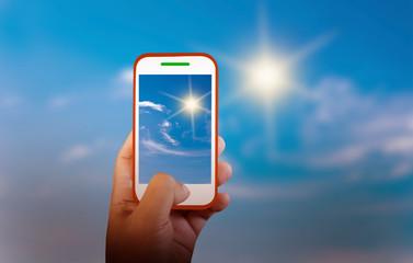 Mobile photography sky