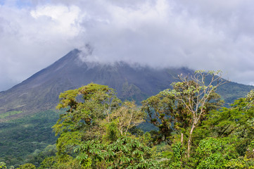 Cloudy sky over Costa Rica