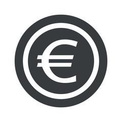 Round black euro sign
