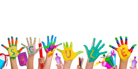 Kinder Schule Spaß Hände