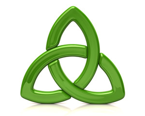 Green celtic triquetra sign