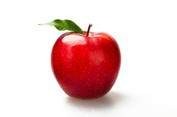 Apple, Red, Isolated.