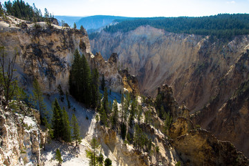 Grand Canyon of the Yellowstone River inside Yellowstone National Park