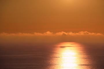 beautiful sunset on the Ionian Sea