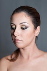 Girl with summer evening makeup