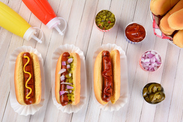 Hot Dog Still Life