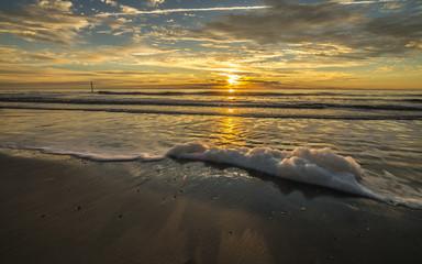 Sunrise in Hunting Island Beach