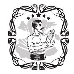 Vintage Boxer Tattoo