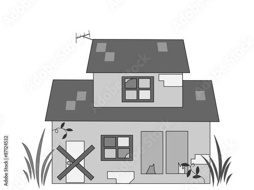 空き家,家,社会問題,家屋,住宅,無人,荒地,建物,倒壊,人口減,相続