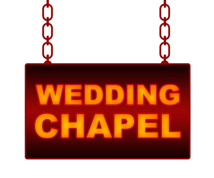 Wedding Chapel Text Neon Signboard