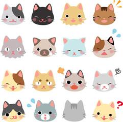 猫のいろいろな表情