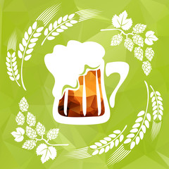 hop and beer