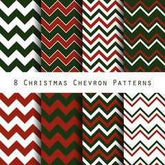 christmas chevron pattern collection