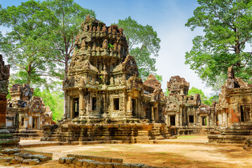 Ancient buildings of Thommanon temple in enigmatic Angkor