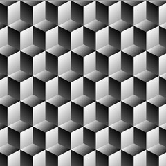 Cubes rows optical illusion background
