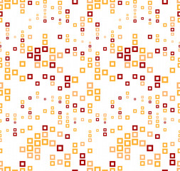 Seamless pattern on a white background. Has the shape of a wave. Consists of through geometric elements in color.