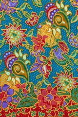 Colorful of pattern texture of general traditional thai style native fabric weave