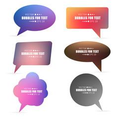 Abstract Creative concept vector empty speech bubbles set. For