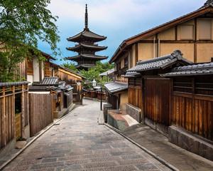 Yasaka Pagoda and Sannen Zaka Street in the Morning, Kyoto, Japa