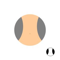 Womens narrow waist. Logo for diet. Vector illustration.