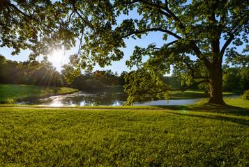 Beautiful Catherine Park. Russia. Pushkin