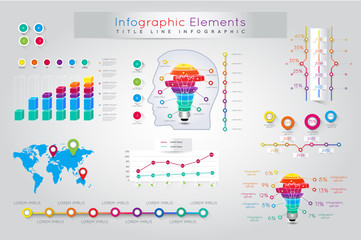 Infographic Elements and Communication Concept. Infographic Elem