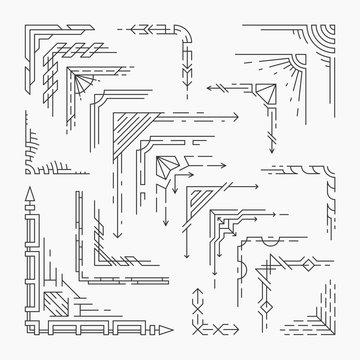 Set of linear corners