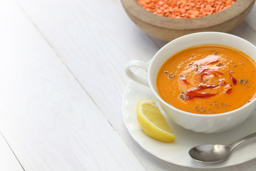 red lentil soup, mercimek corbasi, turkish cuisine