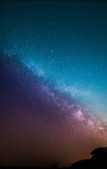 Milchstraße farbig hervorgehoben