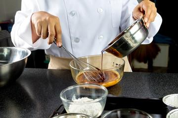 chef making bakery