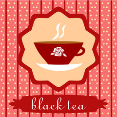 background with Cup of black tea