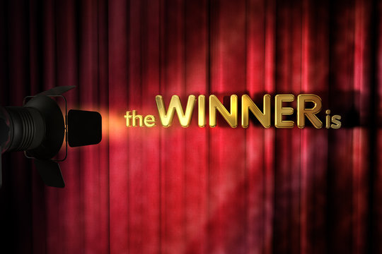 The Winner is - Spotlight - Vorhang - Bühne
