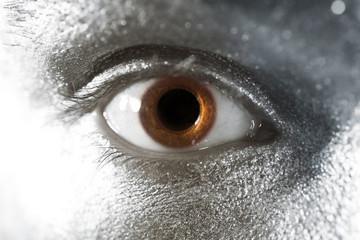 brown eyes male closeup