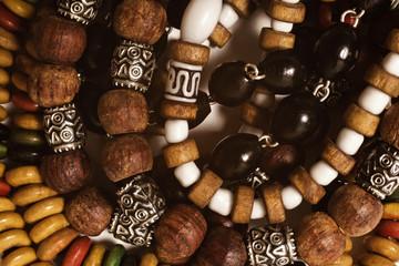 wooden bracelets handmade closeup