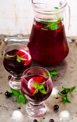 cold drink from blackcurrant