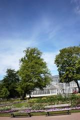 Trädgårdsföreningen public park in Gothenburg in spring