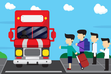 bus stop and travel