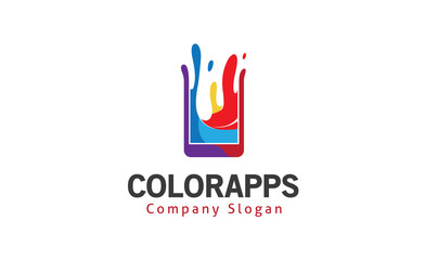 Color apps Logo template