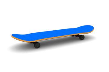 isolated skateboard.