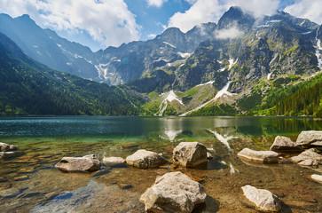 Fototapeta Górski staw, Morskie Oko, Tatry, Rysy, Mountain Lake obraz
