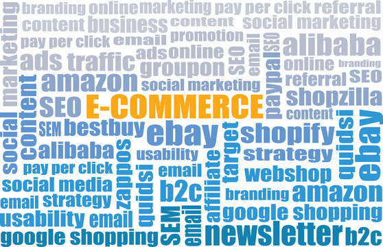E-Commerce tagcloud - e-commerce web site business