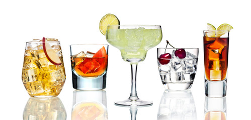 Various cocktails.