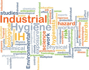 Industrial Hygiene IH background concept