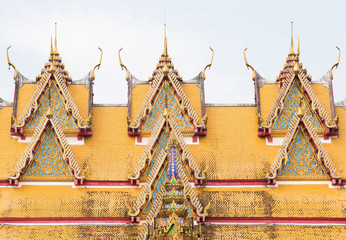 A Roof Top of A Thai Style Temple
