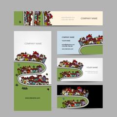 Business cards design, green village