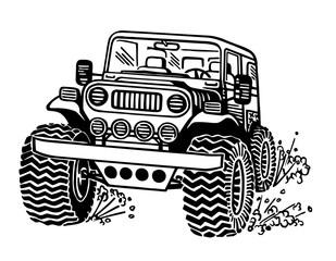 Jeep car illustration